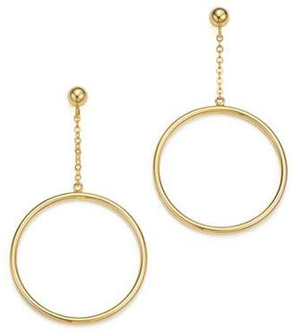 Bloomingdale's 14K Yellow Gold Small Circle Chain Drop Earrings - 100% Exclusive