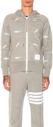 Thom Browne Shark & Surfboard Embroidery Zip Hoodie $1,530 thestylecure.com