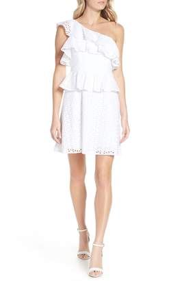 Lilly Pulitzer R) Josey Eyelet One-Shoulder Dress