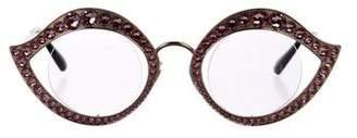 Gucci Embellished Round Eyeglasses w/ Tags