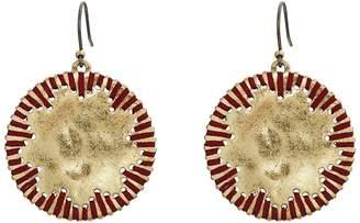 Lucky Brand Threaded Circle Drop Earrings Earring