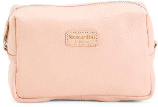 Made In Italy Leather Cosmetic Case