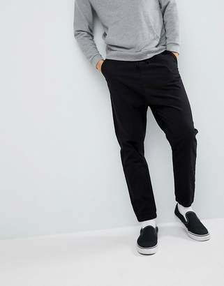 Design DESIGN Drop Crotch Woven Joggers In Black