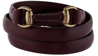 Gucci Leather Triple Wrap Bracelet