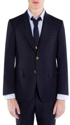 Thom Browne Wide Lapel Fresco Wool Jacket