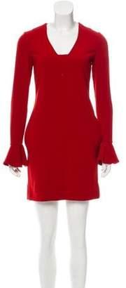 Diane von Furstenberg Fluted Long Sleeve Dress