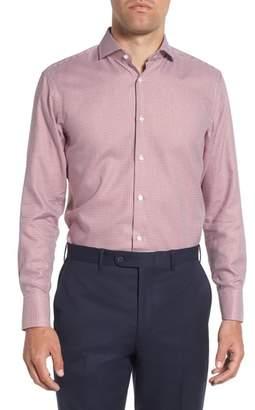 BOSS Mark Sharp Fit Houndstooth Dress Shirt