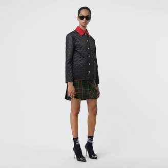 Burberry Diamond Quilted Barn Jacket , Size: S, Black