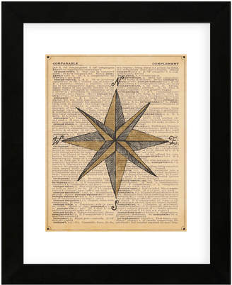 McGaw Graphics Nautical Series - Nautical Star By Sparx Studio Framed Print