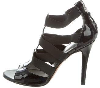Casadei Patent Leather Multistrap Sandals