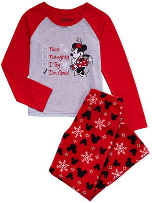 Minnie Mouse (Girls 7-16) Two-Piece Minnie Naughty Or Nice Pajama Set