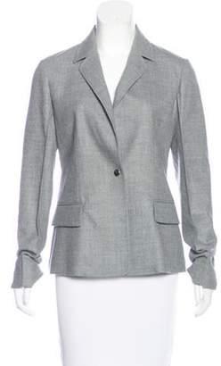 Barbara Casasola Wool Notch-Lapel Blazer w/ Tags Grey Wool Notch-Lapel Blazer w/ Tags