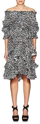 Faith Connexion Women's Leopard-Print Off-The-Shoulder Dress