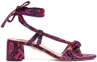 Aquazzura Delicieuse Disco jacquard sandals