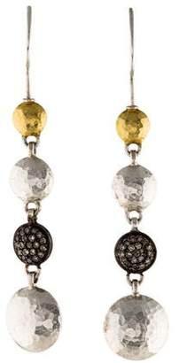 Gurhan Diamond Pavé Long Lentil Drop Earrings