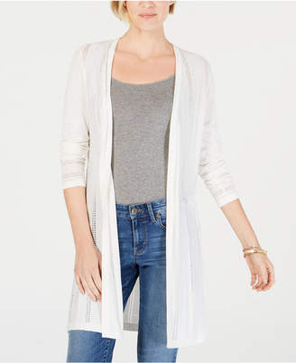 Charter Club Textured-Knit Open Cardigan