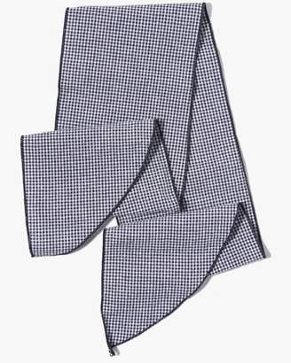 7 For All Mankind Donni Denim Gigi Cotton Necktie in Black Mini Gingham