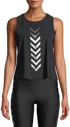 Pixelate Chevron Metallic Racerback Active Tank