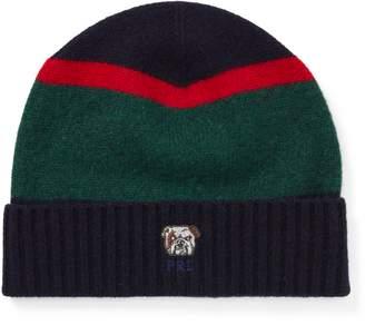 Ralph Lauren Bulldog Knit Wool Hat