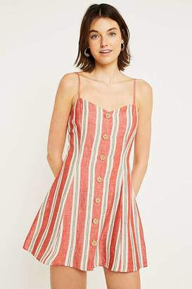 Urban Outfitters Striped Ladder Back Linen Mini Dress