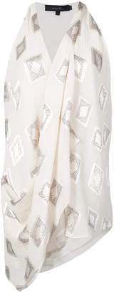 Urban Zen asymmetrical draped sleeveless top