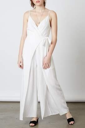 Cotton Candy White Wrap Jumpsuit