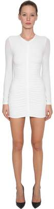 Alexander Wang Crepe Jersey Dress W/ Ruched Details