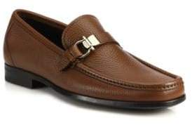 Salvatore Ferragamo Muller Bit Leather Loafers
