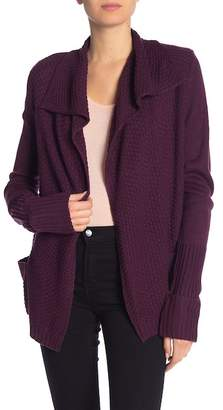 Olivia Sky Stitch Moto Long Sleeve Knit Cardigan