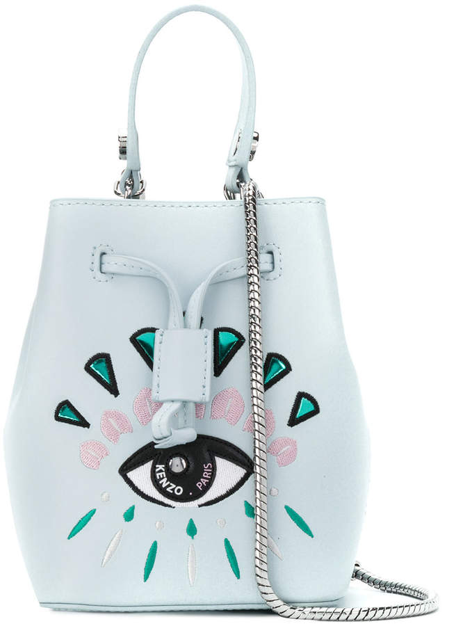 Kenzo mini embroidered eye bucket bag