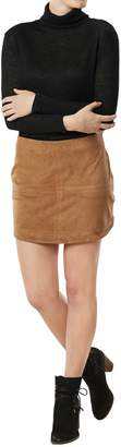 Mud Pie Camel Colored Suede Skirt $49.95 thestylecure.com