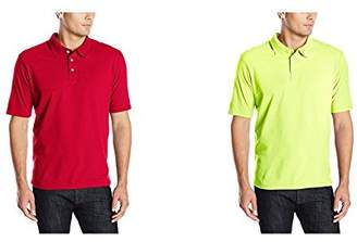 Hanes Men's X-Temp Performance Polo Shirt (1 Pack 2 Pack)