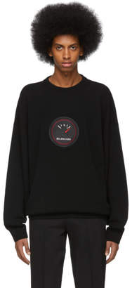 Balenciaga Black Cashmere Speed Sweater