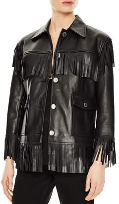 Sandro Fringed Leather Jacket