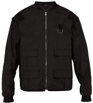 Gucci Logo Print Detachable Sleeve Cotton Jacket - Mens - Black