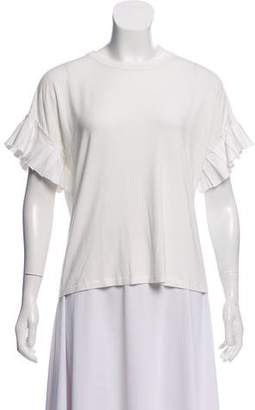 Alexis Pleat-Accented Short Sleeve T-Shirt