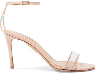 Aquazzura Minimalist 85 Patent-leather And Pvc Sandals - Blush