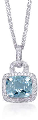 Frederic Sage Roma Aquamarine & Diamond Pendant Necklace