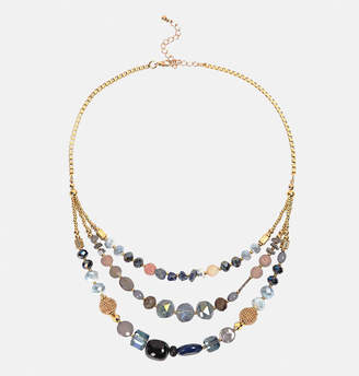 Avenue Layered Blue Bead Necklace