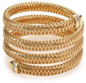 Roberto Coin Primavera Diamond & 18K Yellow Gold 4-Row Wrap Bracelet