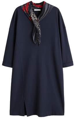 Violeta BY MANGO Pleated scarf dress