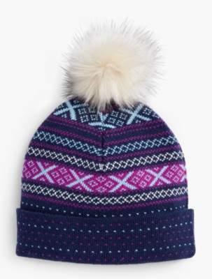 Talbots Fair Isle Winter Hat