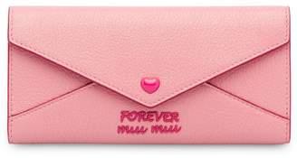 Miu Miu Madras Love wallet