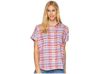 Chaps Plaid Dolman-Sleeve Top Women's Clothing
