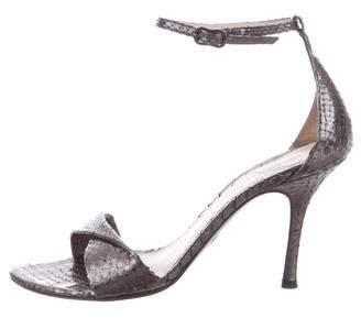 Giorgio Armani Metallic Ankle Strap Sandal