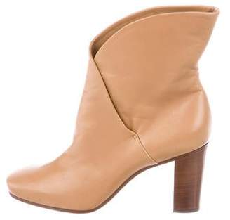 Celine Leather Round-Toe Ankle Boots w/ Tags