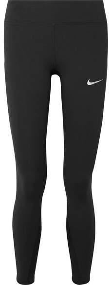 Nike - Power Epic Lux Cropped Dri-fit Stretch Leggings - Black