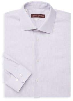 Hickey Freeman Houndstooth Dress Shirt
