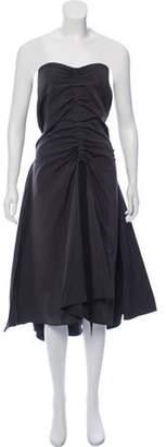 Ellery Strapless High-Low Dress