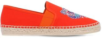 Kenzo 20mm Tiger Cotton Canvas Espadrille